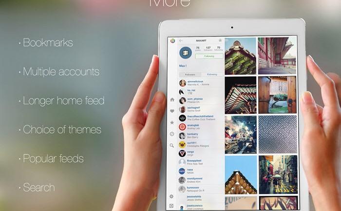เล่น Instagram บน iPad ด้วย Flow for Instagram