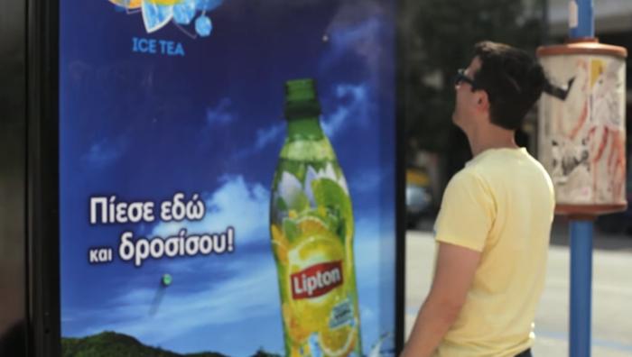 Lipton สร้างป้ายรถเมล์ไอน้ำ…ดับร้อน