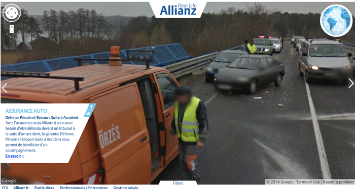 Allianz ใช้วิธีไฮเทค จับภาพอุบัติเหตุใน Google Street View ชวนคนทำประกัน!