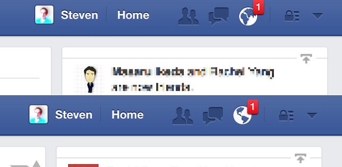 เห็นกันหรือยัง! Icon notification ของ Facebook เปลี่ยนไปนะ
