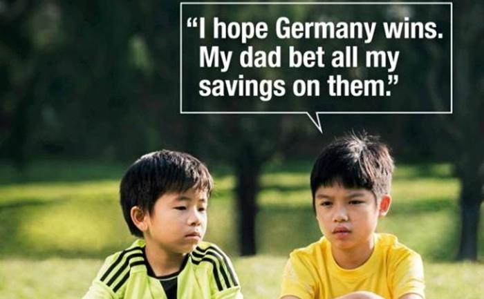แป๊ก! โฆษณาต่อต้านพนันบอลดราม่าผิดจังหวะ-เมื่อเยอรมันถล่มบราซิลเละ