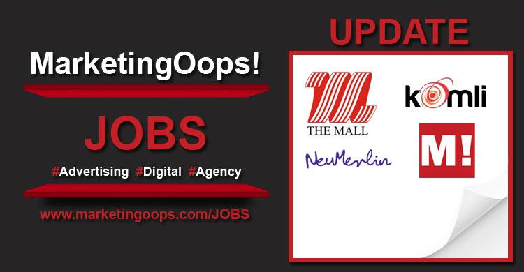 งานล่าสุด จากบริษัทเอเจนซี่โฆษณาชั้นนำ #Advertising #Digital #JOBS 11-15 Aug 14