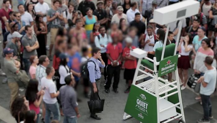 Heineken ชวนคนให้ใช้กึ๋นพูดปราบฝูงชนเงียบสงัด เพื่อรับตั๋ว Ring Side ดู US Open ฟรี