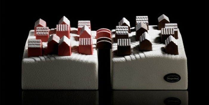 Haagen-Dazs ออกแบบไอศกรีมเค้กช่วงคริสต์มาสในปารีส