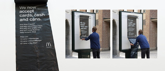 McDonald ช่วยรักษาความสะอาด-รับกระป๋องแลกแฮมเบอร์เกอร์