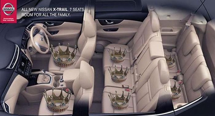 Nissan เกาะกระแสรัชทายาทอังกฤษ-ทวิตโฆษณาแสดงความยินดีแบบแหวกแนว