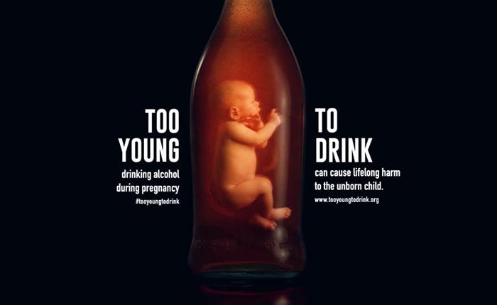 #TooYoungToDrink แคมเปญรณรงค์ไม่ให้หญิงมีครรภ์ดื่มแอลกอฮอร์