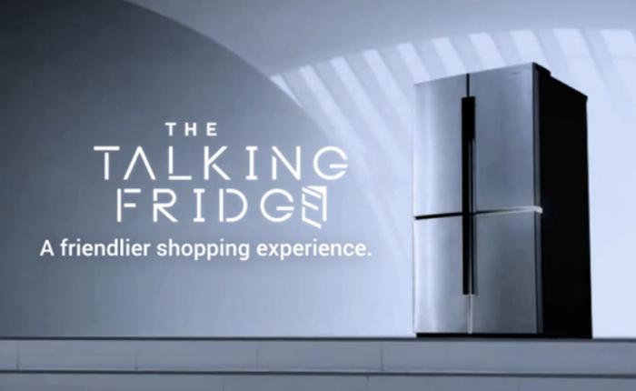 ซัมซุงโละเซลล์หันมาขายตู้เย็นพูดได้โฆษณาตัวเองเสร็จสรรพ