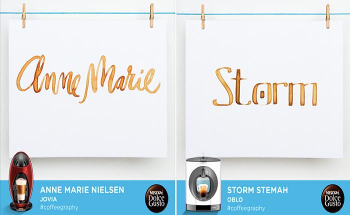NesCafe ชวนคนเลือกข้อความบอกบุคคลิกของเครื่องทำกาแฟแล้วเขียนเป็นลายมือสวยๆลงการ์ดดิจิตอล!