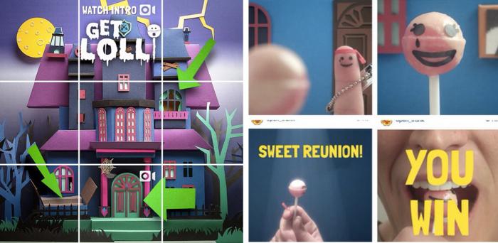 อมยิ้ม Chupa Chups เจ๋งใช้ Instagram สร้างเกมเขาวงกตฉลองฮัลโลวีน