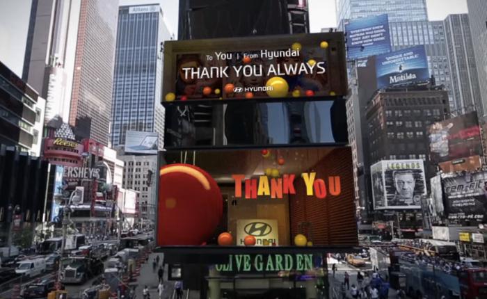 Hyundai ใช้บิลบอร์ด Interactive เรียกรอยยิ้มจากคนทั่ว Time Square
