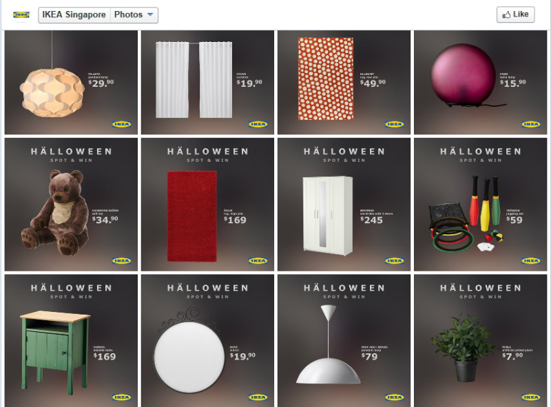 IKEA Halloween Spot & Win Contest -Page