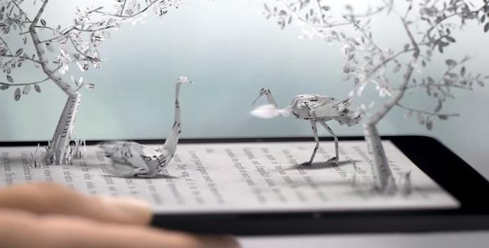 Kindle เผยโฆษณาที่ได้รับแรงบันดาลใจจากศิลปะการพับกระดาษของญี่ปุ่น