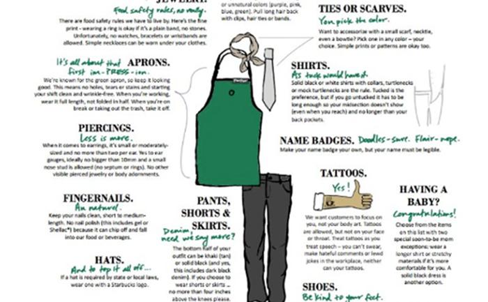 Starbucks กำหนดระเบียบเสื้อผ้าพนักงานใหม่-มีรอยสักได้เจาะหูก็ได้