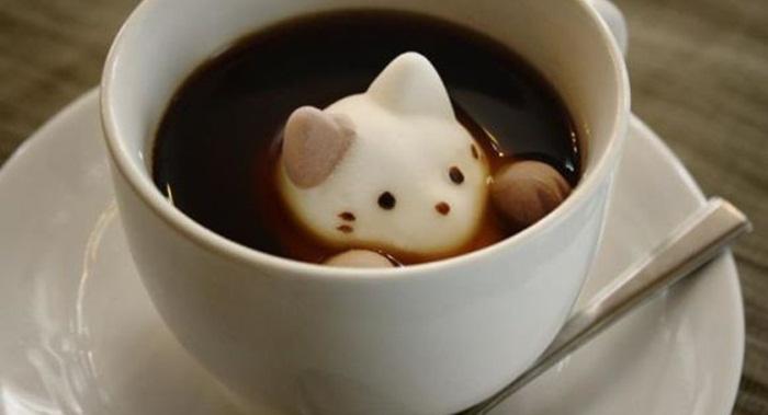 มาชเมลโล่อาร์ต? เพียงหย่อนในกาแฟถ้วยโปรดก็ได้ลาเต้อาร์ตสวยๆ มาชื่นชมได้ทันที