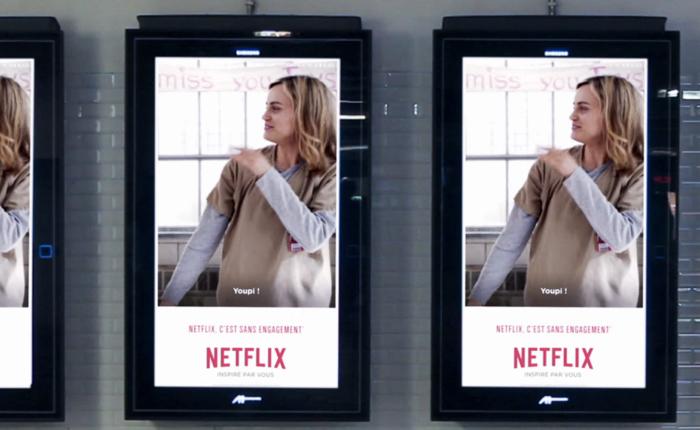 Netflix ใช้ภาพ GIF จากหนังดังมาโปรโมทในบิลบอร์ด