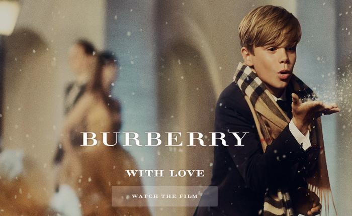 """ลูกเบคแฮมโตเป็นหนุ่มหล่อเต็มขั้นเข้าวงการถ่ายโฆษณาให้แบรนด์หรู """"Burberry"""""""