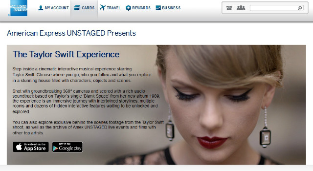 Amex UNSTAGED_ Taylor Swift Experience