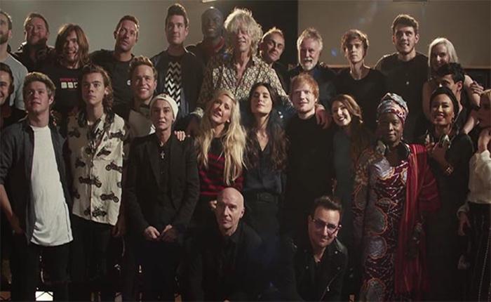 ศิลปิน Band Aid ร่วมกันทำแคมเปญต่อสู้กับไวรัสอีโบล่า นำทีมโดย Sir Bob Geldof