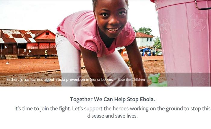Facebook เชิญชวนผู้ใช้งานร่วมบริจาคเงินเพื่อต่อสู้กับอีโบล่า