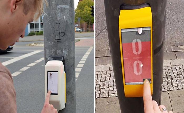 นศ.เมืองเบียร์ ประดิษฐ์เกมที่เสาไฟจราจร ทำให้การรอข้ามถนนไม่น่าเบื่ออีกต่อไป