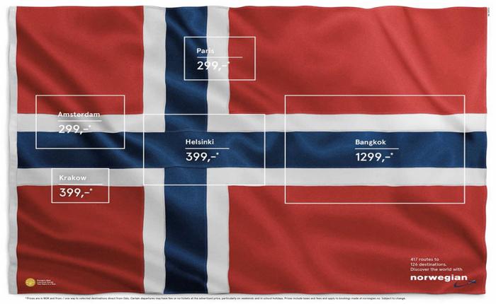 สายการบินออก Print Ads สุดครีเอทีฟ ใช้รูปธงชาติรูปเดียว ขายได้ทุกเส้นทางบิน!