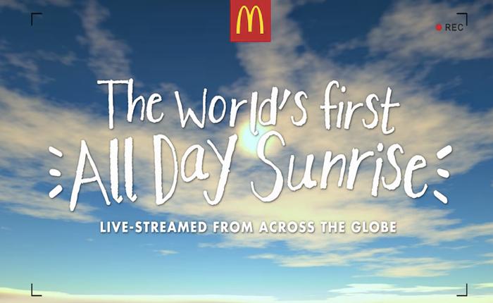 แมคฯสิงคโปร์โปรโมทเมนูอาหารเช้าที่เสิร์ฟทั้งวันตลอดช่วงปีใหม่ด้วยคลิปพระอาทิตย์ขึ้นจากทั่วโลก!