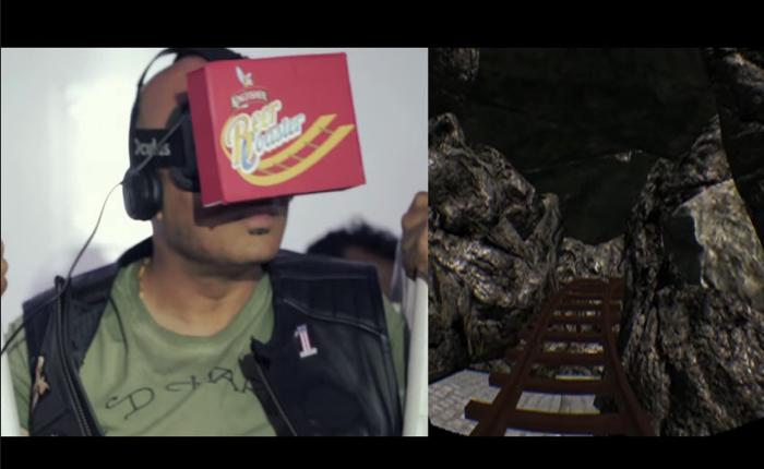 เบียร์อินเดียใช้แว่น VR ชวนลูกค้าเล่นเสียวกับรถไฟเหาะ 3 มิติ มึนเมื่อไหร่ส่งเบียร์ให้รีแล็กซ์ทันที