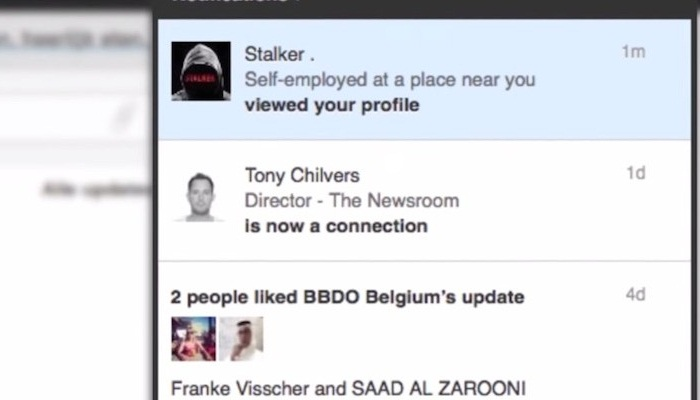 เอเจนซียิงจุดอ่อน LinkedIn ส่ง 'Stalker' ตามสะกดรอยผู้ใช้จนกลัว-โปรโมทซีรี่ย์ระทึกขวัญ