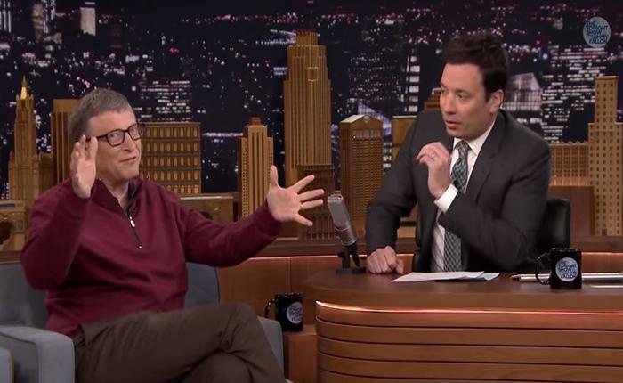 Bill Gates ลวง Jimmy Fallon ดื่มน้ำจากปัสสาวะ หลังโชว์คลิปของตัวเองมาแล้ว