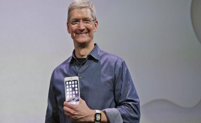 """""""ทิม คุก"""" ปลื้ม! ทำสถิติ 3 เดือนขาย iPhones ได้ 74.5 ล้านเครื่อง ฟันกำไรแซงหน้า Google"""