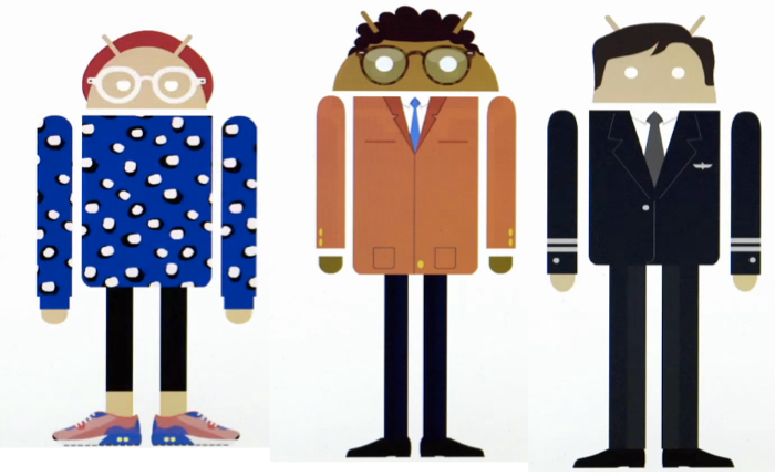 จับหุ่นกระป๋องมาร้องเพลงคอรัส วิธีโปรโมทว่าแอนดรอยด์ทุกเครื่องมีจุดเด่นเฉพาะตัว