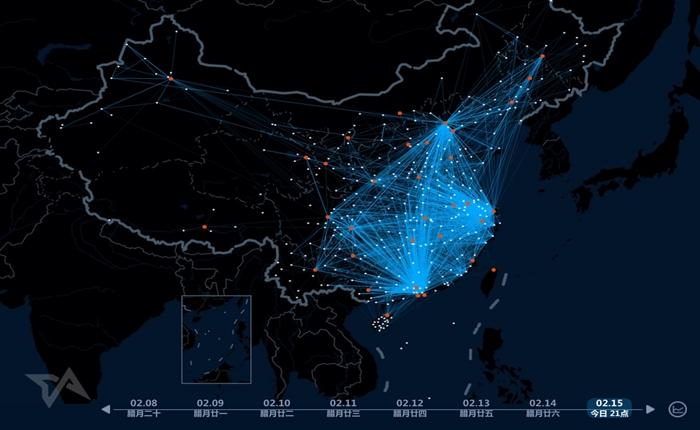 Baidu แสดง Heat map การเดินทางของชาวจีนจำนวนมหาศาล ในช่วงตรุษจีนแบบเรียลไทม์