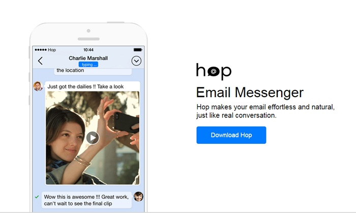 Hop แอพฯสร้างสรรค์ที่เปลี่ยนอีเมล์ของคุณกลายเป็นแชทแอพฯใช้ง่าย