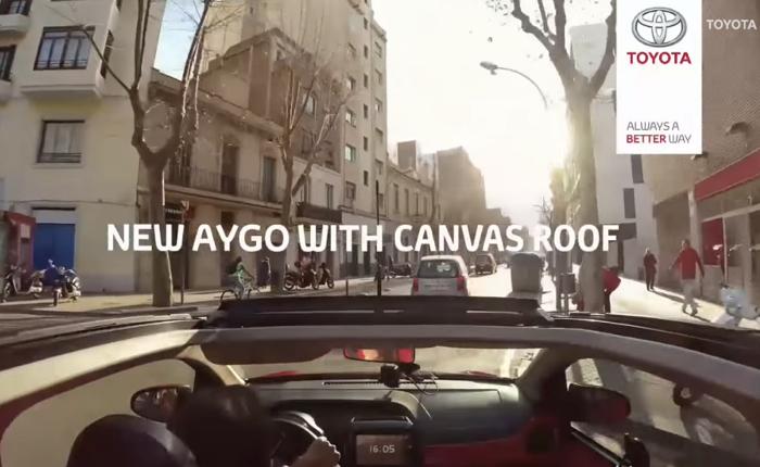 Toyota Aygo รถจิ๋วเปิดประทุนท้าทายนักพยากรณ์อากาศมานั่งรถหากคาดการณ์ผิดก็ต้องโดน!