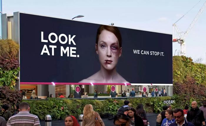 NGO ปลุกให้คนเห็นปัญหาการทำร้ายสตรี ด้วยโปสเตอร์ดิจิตอล ยิ่งคนดูภาพเท่าไหร่ แผลบนหน้านางแบบก็จะหายไวเท่านั้น