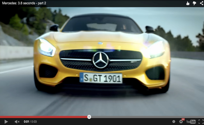 BENZ ใช้คลิปวิดีโอโชว์รถสุดสปีดแค่ 3.8 วิฯก็วิ่งถึง 300 กม. แล้ว! ทำได้ยังไงกันนะ?