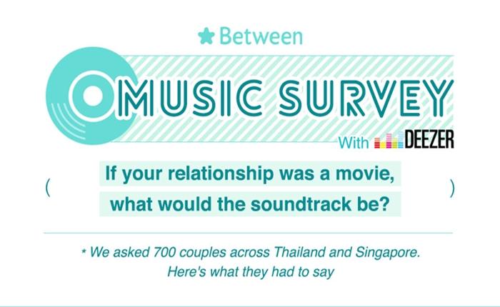 """แอพฯ """"Between"""" เผยสำรวจ Top10 เพลงบิวท์คู่รัก ประดุจหนังโรแมนติก"""