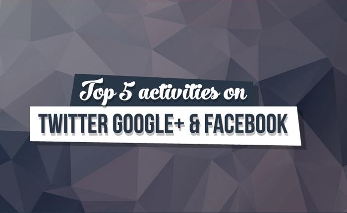 สำรวจพฤติกรรมผู้บริโภค Top 5 ที่คนส่วนใหญ่นิยมทำใน Social Media