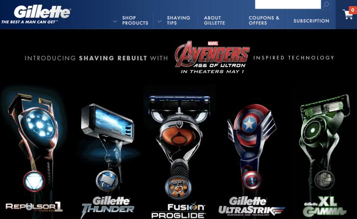Gillette ใช้มุขเก่า Tie in หนังดัง Avengers ภาคใหม่ด้วยด้ามมีดโกนหนวดยอดมนุษย์!