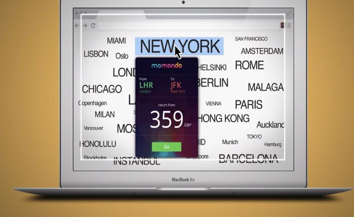 เว็บจองตั๋วเครื่องบินใช้สื่อใหม่ส่วนขยายในเบราว์เซอร์ แค่คลิกชื่อเมืองในเว็บ/เฟสฯก็รู้ราคาตั๋วทันที