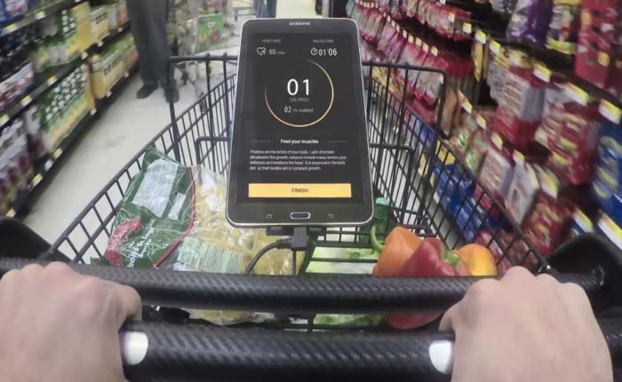 Wallmart จัดให้! อนาคตของการซื้อของในซุปเปอร์ต้อง Healthy ขึ้นด้วยเครื่องวัดการเผาผลาญแคลอรี่ที่รถเข็น!