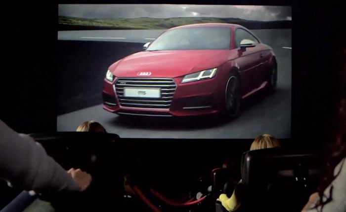 AUDI สร้างโฆษณาหนัง 4 มิติโปรโมทให้คนทดลองขับในโรง 4DX โดยเฉพาะ!