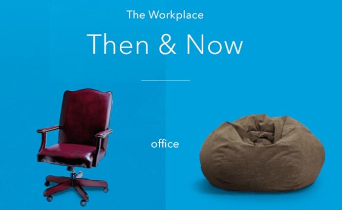 LinkedIn เผยภาพ Infographic ในที่ทำงานแบบ Then & Now