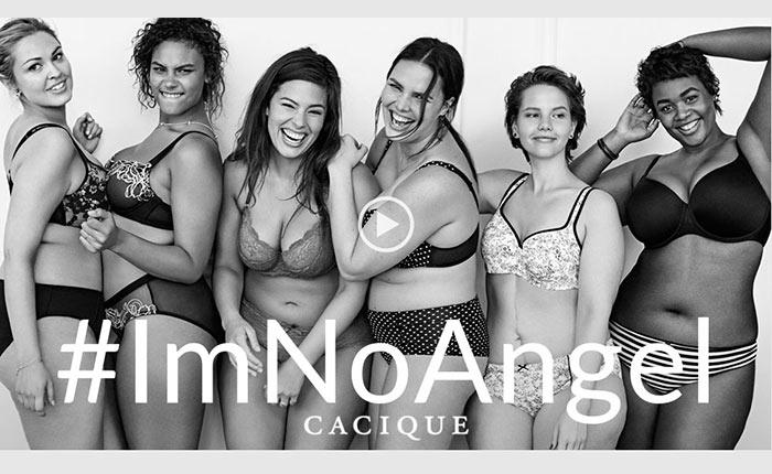 ดราม่า! แบรนด์ชั้นใน Plus Size ปล่อยแคมเปญ #ImNoAngel ส่อจิกกัด Victoria Secret