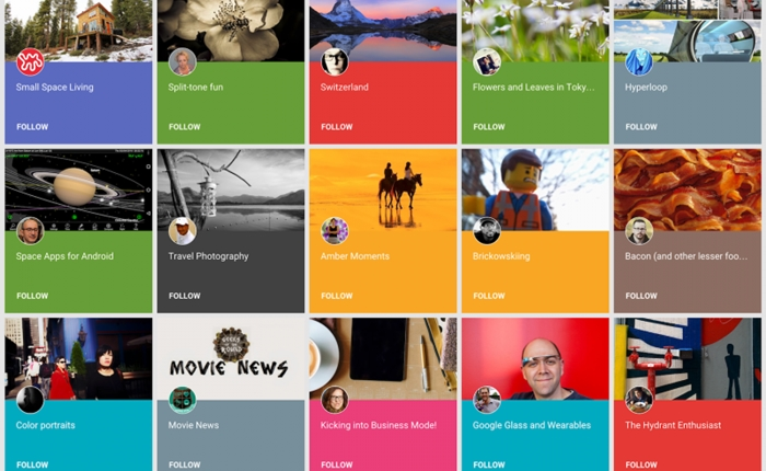 Google+ เพิ่มฟีเจอร์ Collections รวมภาพ- VDO แบบเดียวกับ Pinterest