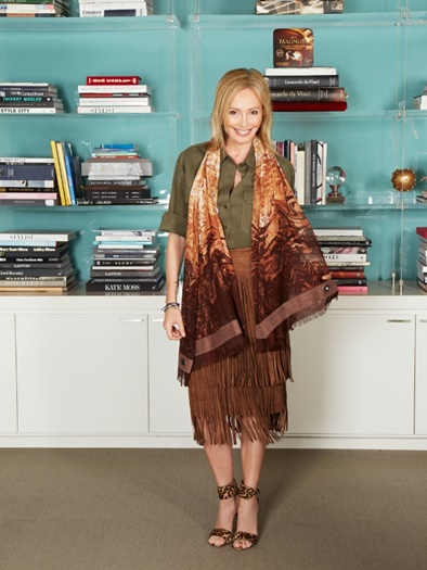 Lubov Azria with wrap