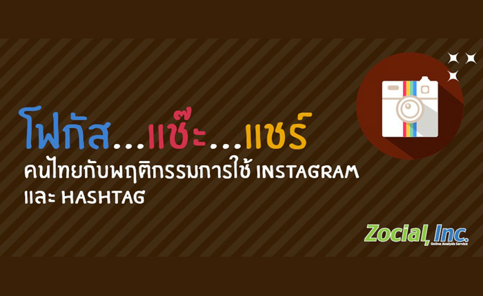 โฟกัส…แช๊ะ…แชร์ พฤติกรรมคนไทยกับการใช้ Instagram และ Hashtag