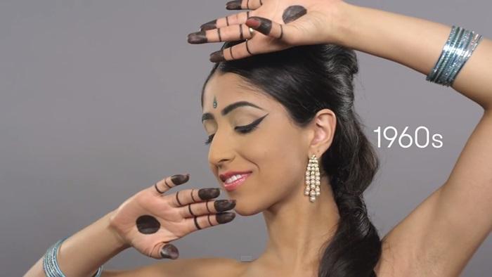 '100 Years of Beauty' ไวรัลเผยรูปแบบความงามของสาวอินเดียตลอดร้อยปี