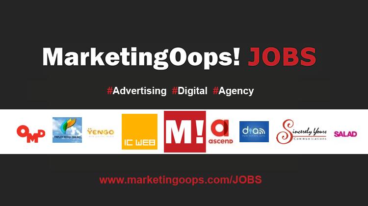 งานล่าสุด จากบริษัทและเอเจนซี่โฆษณาชั้นนำ #Advertising #Digital #JOBS 9-14 MAY 2015